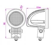 LED фара 10w дальнего света 57мм
