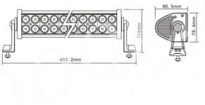 LED балка 72w combo Epistar