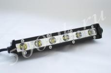 LED фара 18w slim дальнего света