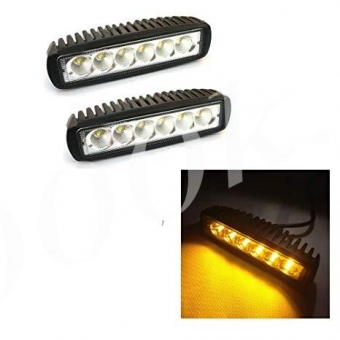 LED фара 18w желтого ближнего света