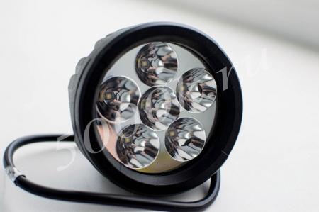LED фара 18w 89мм дальнего света