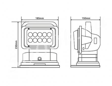 Фара-искатель LED 50w с пультом 12/24v Белый_3