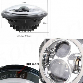 LED фара головного света HL-7 (компл 2шт)