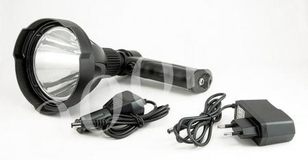 Фара-искатель LED 10w на аккумуляторе 2010