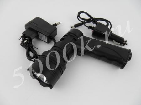 Фара-искатель LED 10w на аккумуляторе 1010