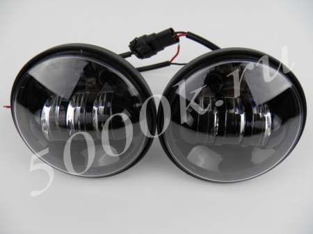 Led фара 18w black (комплект)