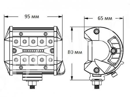 LED фара 20w Combo C3R020B_2