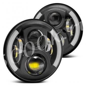 LED фара головного света JH07 BLACK