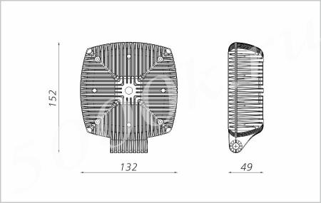 Led фара 40w GM-TRAC-40 12v 45*_2