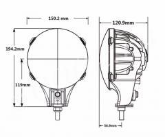 LED фара 40w DRL_3