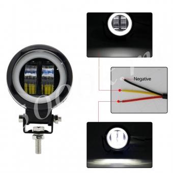 LED фара 20w +DRL 72мм_2