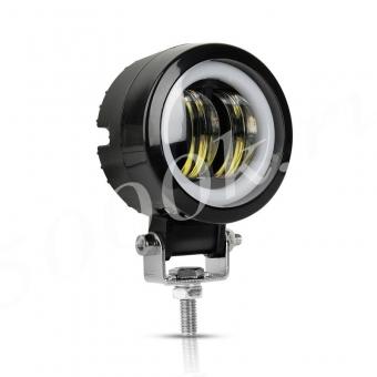 LED фара 20w +DRL 72мм