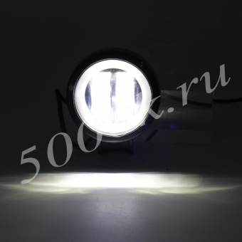LED фара 20w +DRL 72мм_3