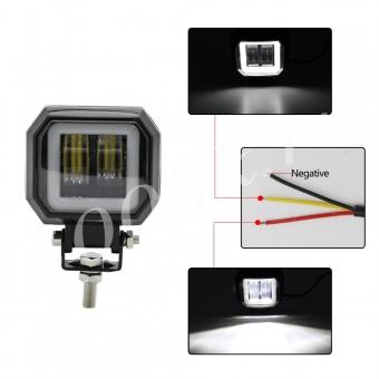 LED фара 20w +DRL 72мм_1