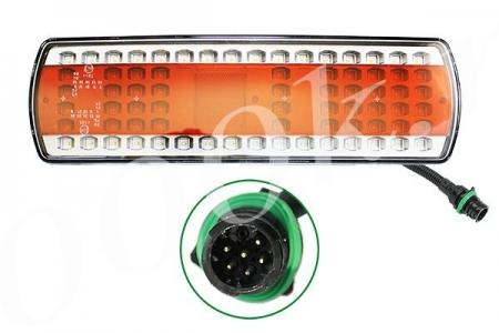 Фонарь задний LED левый с AMP разъемом (КамАЗ 5490, МАЗ 112.08.69-03)