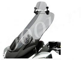 Дополнительный ветровик для мотоцикла прозрачный 282мм_0