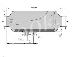 Автономный отопитель 12в 5КВт с полным установочным комплектом._3