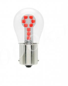 Led лампа 12v 1156 18 smd 3030 RED
