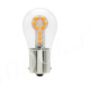 Led лампа 12v 1156 18 smd 3030 YELLOW