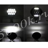 LED фара 50w дальнего света + DRL 180мм_4