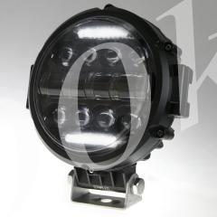 LED фара 50w дальнего света + DRL 180мм