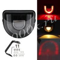 LED фара 18w (Зона безопасности) RED + YELLOW STROBO_4