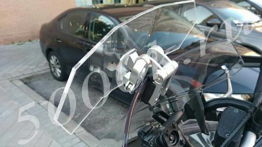Дополнительный ветровик для мотоцикла прозрачный 300мм