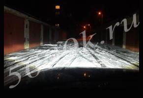 LED фара 35w + DRL FLOOD 90мм_2