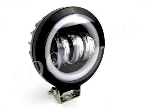 LED фара 35w + DRL FLOOD 90мм