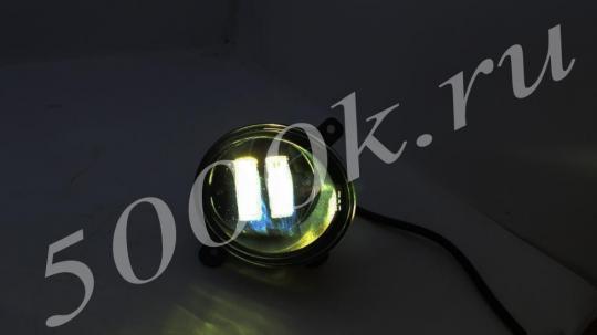 Led фара 20w Ларгус, Калина2 БЕЛЫЙ+Желтый (комплект)