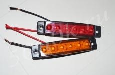 Указатель габаритов 12/24в LED красный (пластина)